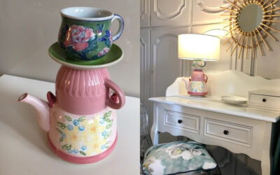 Un servizio da tè per lampada